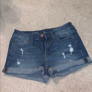 Low rise shortie shorts